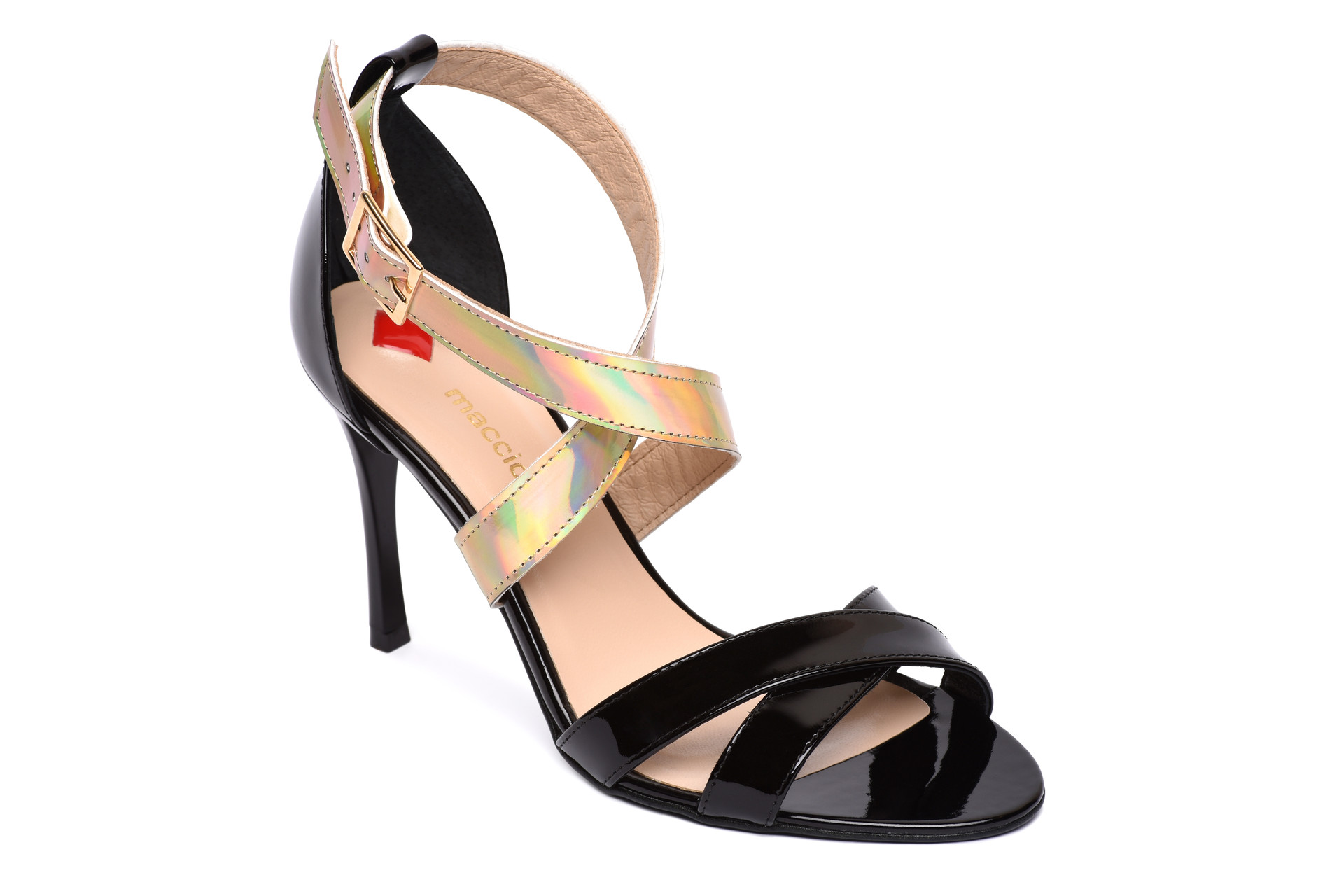 00b3222c38a9 GALLERY SHOES - Sandále - Sandále čierno-zlatá lakové maccioni