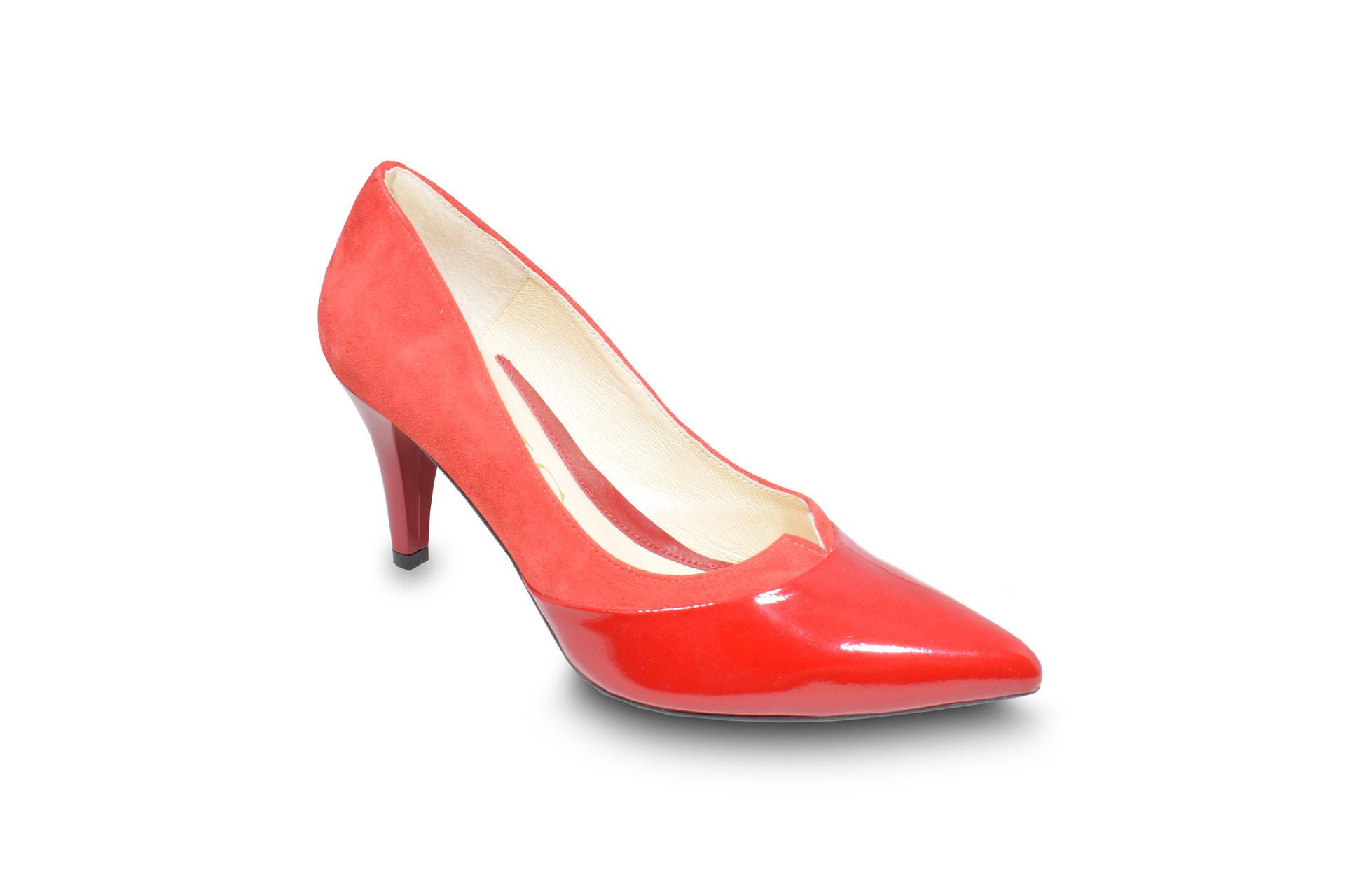 68ff01a5f99c GALLERY SHOES - Lodičky - Lodičky červené lakové s ozdobným výkrojom ...