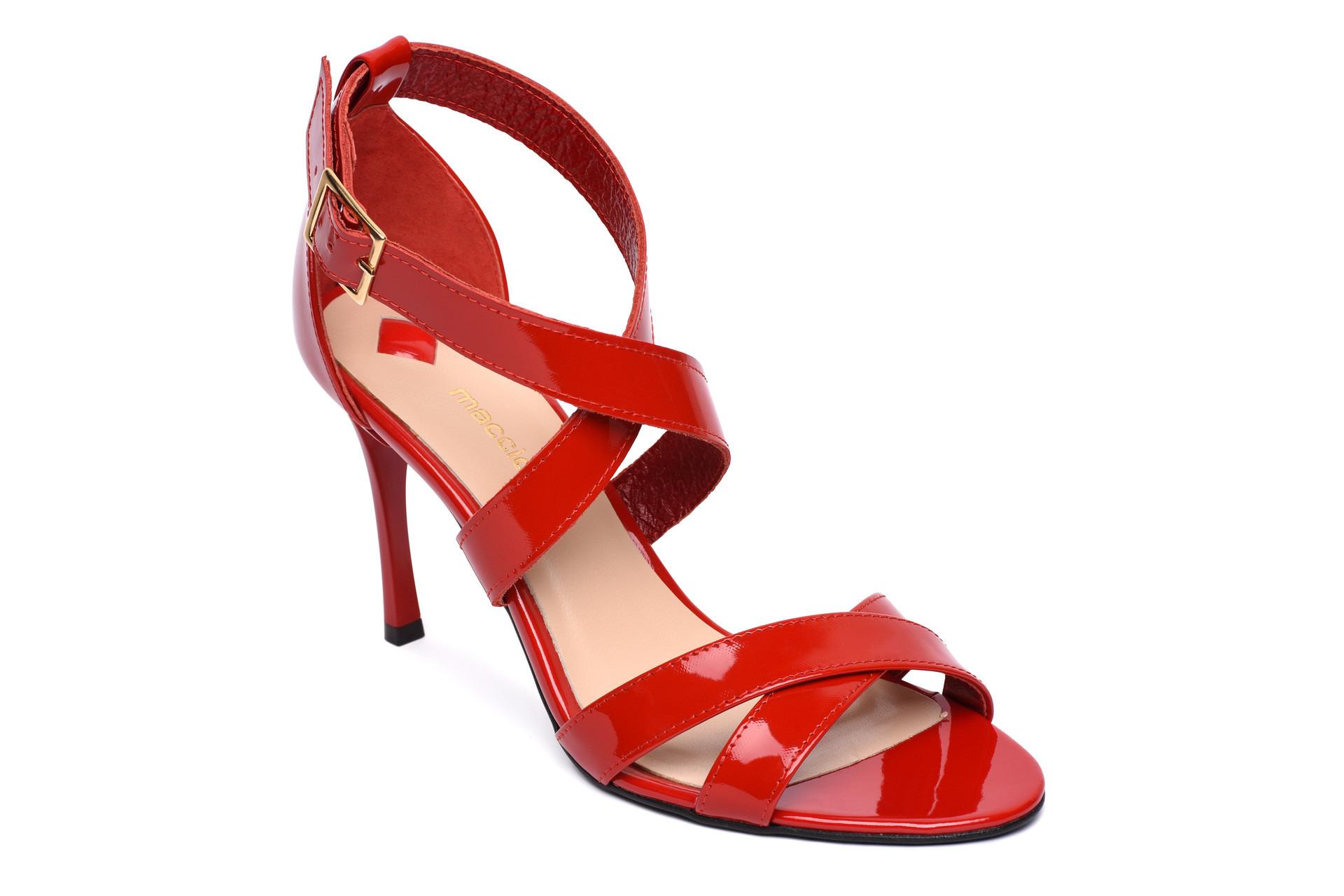 6ec00bad11 GALLERY SHOES - Sandále - Sandále červené lakové maccioni